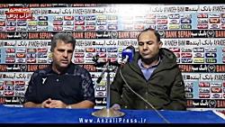 کنفرانس خبری سهراب بختیاری زاده پس از پیروزی در انزلی
