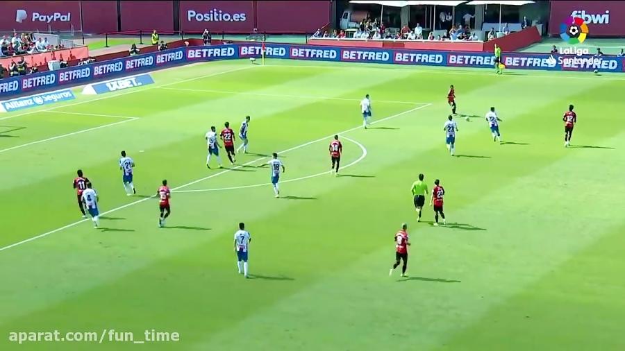 خلاصه بازی مایورکا 2 - 0 اسپانیول هفته 8 لالیگا 14 مهر 98