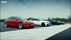 مسابقه تسلا با خودروهای دیگر و قدرت نمایی برای بار دیگر