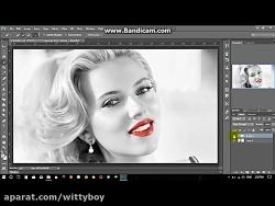 چگونه قسمتی از تصویر را رنگی کنیم  , چگونه قسمتی از تصویر را سیاه و سفید کنیم
