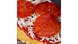 اموزش و طرز تهیه پیتزا خانگی در چند دقیقه