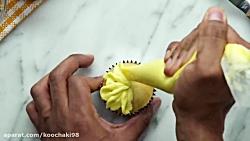 اموزش تزیین کاپ کیک و دسر های خانگی در چند دقیقه