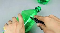 اموزش ساخت کاردستی های جالب با بطری پلاستیکی و مواد دورریختنی