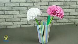 آموزش ساخت گل های تزیینی با کاغذ دستمالی برای کاردستی
