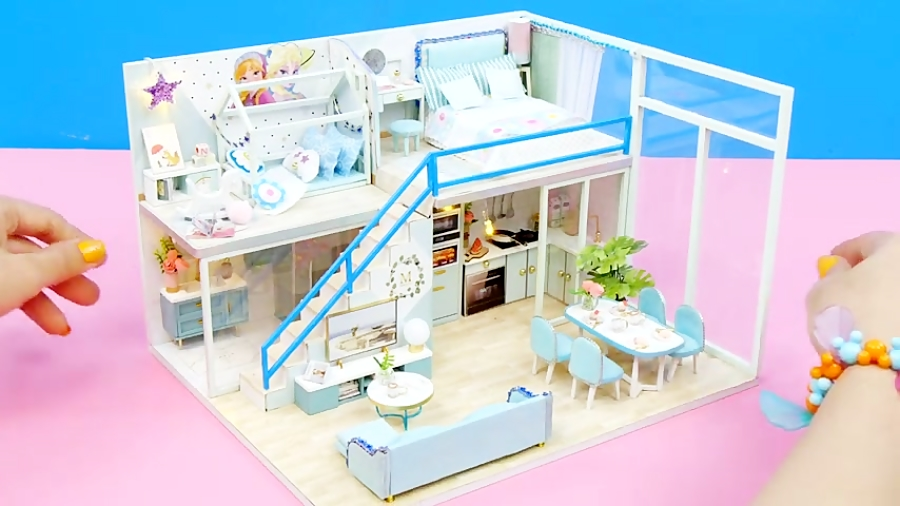 ساخت خانه مینیاتوری برای عروسک های باربی، پرنسس السا و یخی