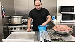 آموزش سيخ كردن كوبيده و روش صحيح پخت