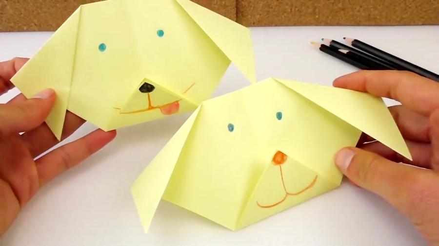 ساخت سگ کوچولو با اوریگامی