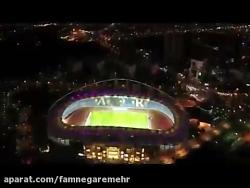 نورپردازی استادیوم امام رضا مشهد-شرکت فام نگار مهر