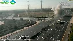 برخورد راکت شلیک شده از غزه به بزرگراه در مرکز فلسطین اشغالی
