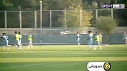 پیش بازی عراق - ایران در...