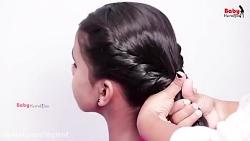 آموزش بافت موی زیبای دخترانه مدل دوطرفه