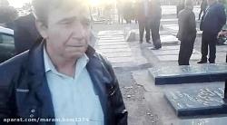 روضه کربلایی مهران بارانی در کنار مزار خادم الحسین آرش رنجبر در بهشت زهرا بروات