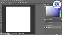 آموزش دایره ای کردن متن در فوتوشاپ