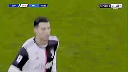 عصبانیت رونالدو پس از تعویض با دیبالا در بازی با اث میلان