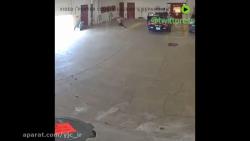 فرار سارق از داخل پارکینگ پاسگاه پلیس