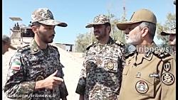 بازدید امیر موسوی از پدافند هوایی نیروگاه اتمی بوشهر
