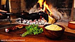 آشپزی در طبیعت - سیب زمینی آتشی با سس مخصوص و پنیر با کیفیت FULL HD