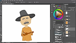 How to draw a Guitar Man