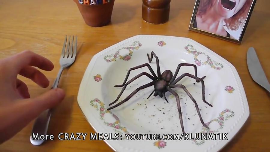 چالش خوردن عنکبوت زنده:||^•^ 《follow=follow》