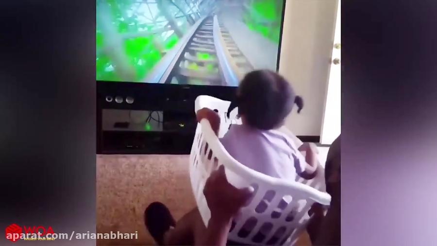 شیطنت های خنده دار با بچه ناز