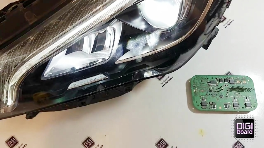 تعمیر ترانس چراغ بنز LED زنون Benz