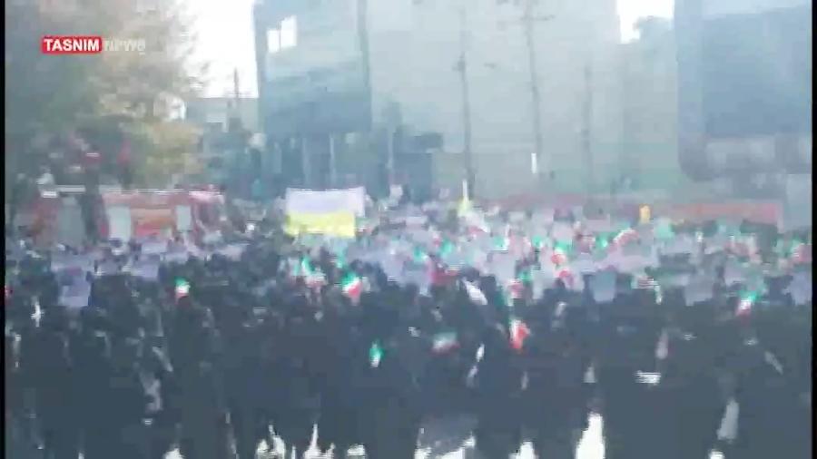 راهپیمایی مردم یاسوج علیه آشوبگران و اشرار