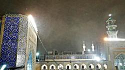 بارش برف در حرم مطهر امام رضا علیه السلام