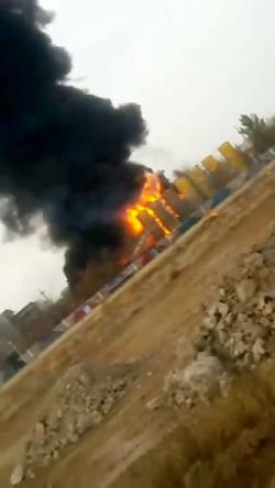 آتش سوزی گسترده در شهرک شهید سلیمی تبریز