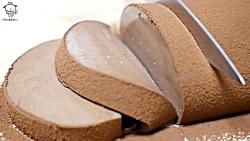 آموزش پختن کیک شکلاتی ژلاتینی