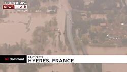 سیل در فرانسه جان ۴ نفر را گرفت