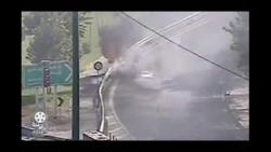 آتش سوزی ماشین در یادگار امام (تصاویر واقعی)