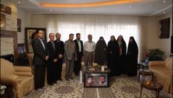 دیدار دست اندرکاران شبکه مستند با خانواده شهید احمدی روشن