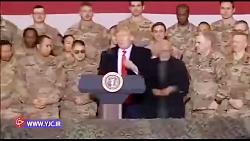فیلم سفر مخفیانه ترامپ به افغانستان
