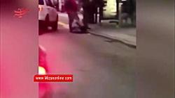 حمله وحشیانه پلیس آمریکا به یک جوان!