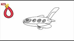 چطور نقاشی بکشیم - هواپیما