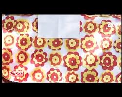 چگونه با گلهای پارچه ای رومیزی شیک و زیبا بسازیم_ آموزش تصویری
