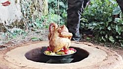 تنوری کردن مرغ با روشی بی نظیر - ساخت تنور در دل خاک