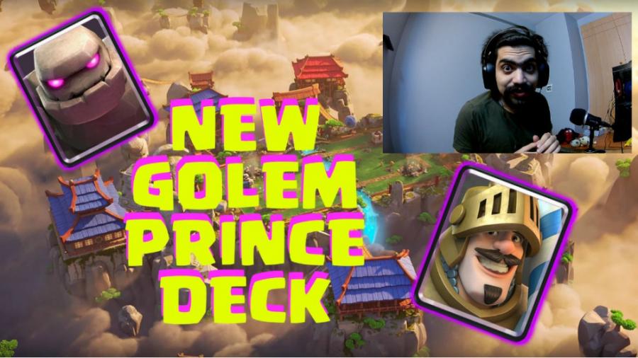 دک جدید گولم پرنس در کلش رویال | Clash Royale Golem Prince Deck