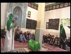 امام و حضرت زینب بر سر بالین تعزیه حضرت عباس (ع)
