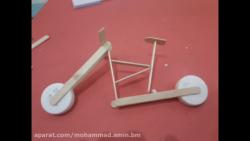 کاردستی جالب دوچرخه با استفاده از چوب های کاردستی (سری۲)