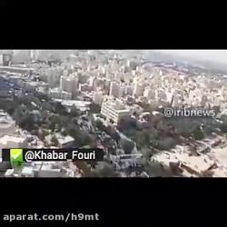 تصاویر هوایی از حضور عاشقان اربعین در تهران