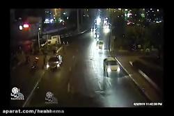 پرواز کامیون در خیابان اشرفی تهران (تصاویر واقعی)