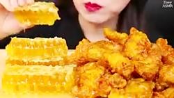 چالش فود آسمر مرغ سوخاری و عسل