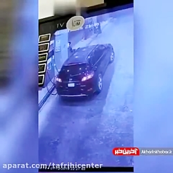 آتش گرفتن خودرو هنگام بنزین زدن