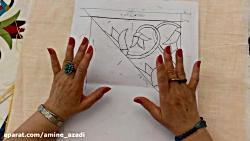 نحوه اندازه و کشیدن طرح برای هنر مصری دوزی _قسمت اول