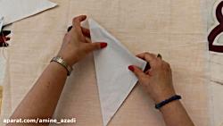 انتقال طرح بر روی کاغذ هنر مصری دوزی _ قسمت دوم