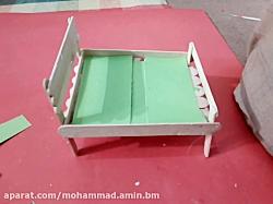 کاردستی تخت خواب با استفاده از چوب های کاردستی