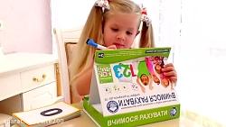 دیانا باسواد می شود ... آموزش اعداد و الفبا به دیانا
