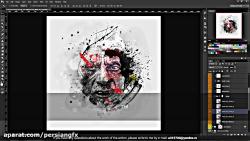 اکشن طراحی پوستر و تبدیل عکس به پوستر زیبا در فتوشاپ