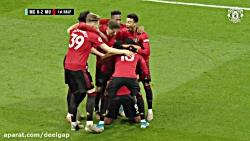 خلاصه بازی منچستر سیتی ۱ - منچستر یونایتد ۲